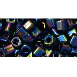 10 grams TOHO 4 mm Cubes Metallic Rainbow Iris TC-04-86