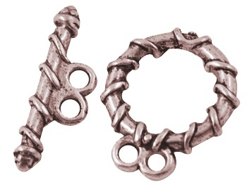TCLNF02 18mm A Copper Lead and Nickel Free 2 Strand Toggle Clasp