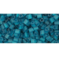 10g TOHO size 11 Triangles Trans Frosted Teal TG-11-7BDF