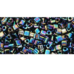 10g TOHO size 11 Triangles Metallic Rainbow Iris TG-11-86