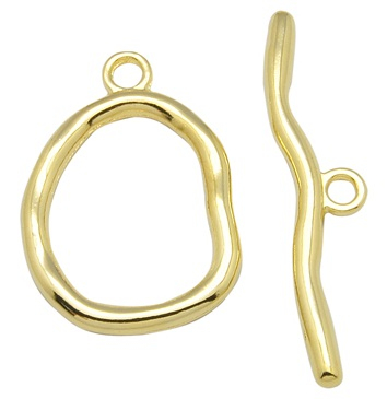 TGNF01 33mm Gold Colour Nickel Free Toggle Clasp