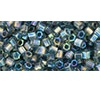 10 grams TOHO Size 8 Hex Beads Trans Rainbow Grey TH-08-176B