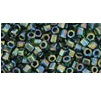 10 grams TOHO Size 8 Hex Beads Trans Rainbow Olivine TH-08-180