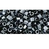 10 grams TOHO Size 8 Hex Beads Metallic Hematite TH-08-81