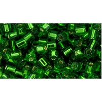10 grams TOHO Size 11 Hex Beads S Lined Grass Green TH-11-27B