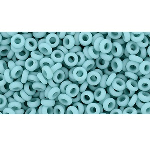 5g Size 8 TOHO Demi Rounds Opaque Frosted Turquoise TN-08-55F