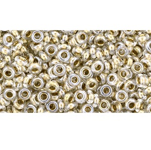 5g Size 6 TOHO Demi Rounds Gold Lined Crystal TN-06-989