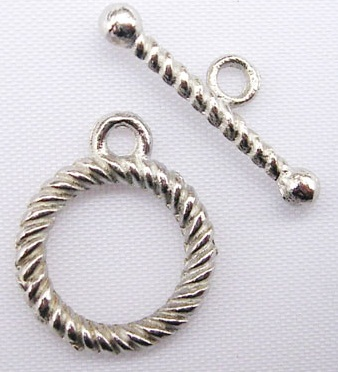 TS05 14mm Antique Silver Colour Toggle Clasp 3 pack