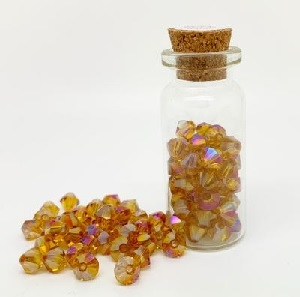 100 Pack 3mm Chinese Bicones Amber AB 14AB