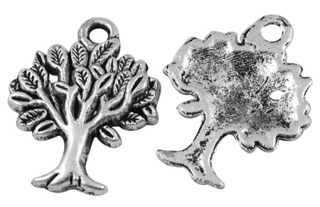 22mm Antique Silver Tree of Life Charm Lead and Nickel Free