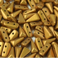 30 Czech Vexolo Beads Brass Gold 00030 01740