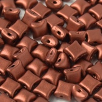 15 Czech WibeDuo Beads Copper 00030 01750