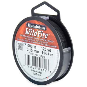 10 lb strength, 0.15 or 0.006 inch dia Wildfire 125 yds Black