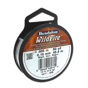 10 lb strength, 0.15 or 0.006 inch dia Wildfire 50 yds Black