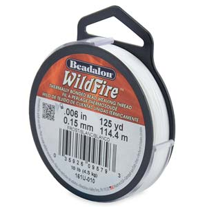 10 lb strength, 0.15 or 0.006 inch dia Wildfire 125 yds Frost