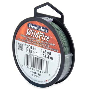 10 lb strength, 0.15 or 0.006 inch dia Wildfire 125 yds Green