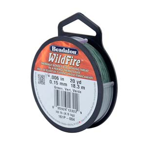10 lb strength, 0.15 or 0.006 inch dia Wildfire 20 yds Green