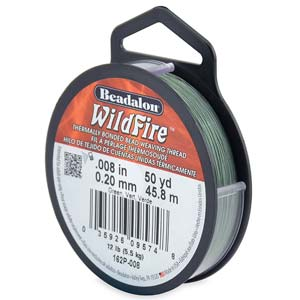 10 lb strength, 0.15 or 0.006 inch dia Wildfire 50 yds Green
