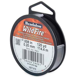 12 lb strength, 0.2 or 0.008 inch dia Wildfire 125 yds Black