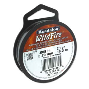 12 lb strength, 0.2 or 0.008 inch dia Wildfire 20 yds Black