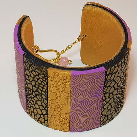 Saturday, 18th May, 10 am - 3.30 pm, Textured Cuffs in Polymer