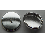 12mm .999 S Silver Plated Patera Round Brass Button Bezel