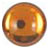 Round amber dome  9mm Designed for Patera Shapes
