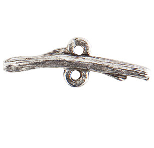.999 A Silver Plated Patera Twig Shaped Bar with Double Loop