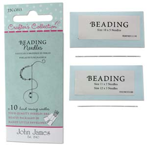 10 Pack Assorted Long Beading Needles
