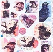 Patera Collage Sheet Valentine Birds