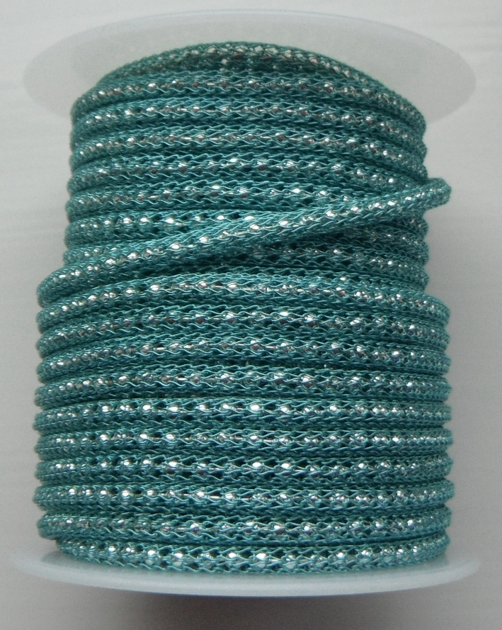 Light Blue wire over 2mm Silver Plated bead chain price per 10cm