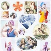 Patera Collage Sheet Bathing Beauties