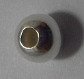 6mm Round Sterling Silver Bead 10 pack