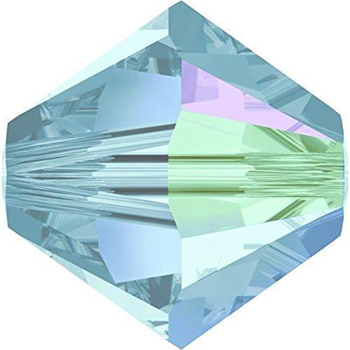 50 pack 4mm 5328 Swarovski Bicone Aquamarine AB