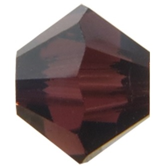 10 pack 6mm 5301 Swarovski Bicone Burgundy Satin