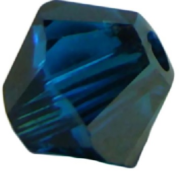 50 pack 4mm 5328 Swarovski Bicone Capri Blue Satin
