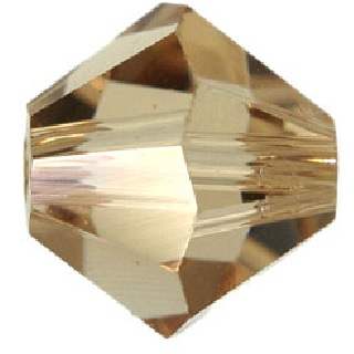 10 pack 6mm 5301 Swarovski Bicone Colorado Topaz