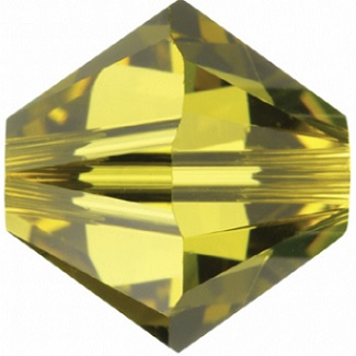 10 pack 6mm 5301 Swarovski Bicone Lime