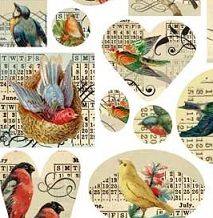 Patera Collage Sheet Birds