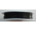 0.5mm Cotton Cord black. Price per 25 metres