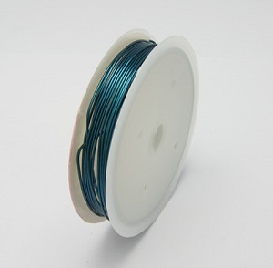 0.6mm 22 Gauge copper wire in blue colour. Price per 6 metres