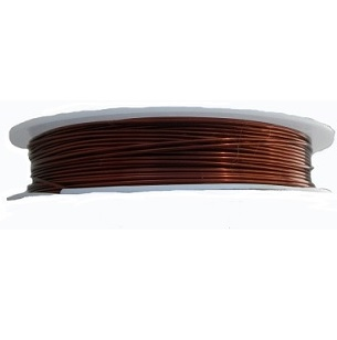 0.8mm 20 Gauge copper wire in brown colour. Price per 4 metres