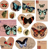Patera Collage Sheet Butterflies