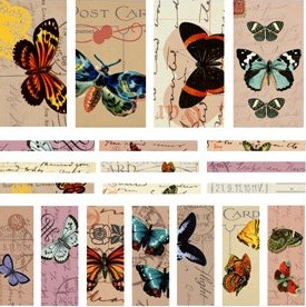 Patera Collage Sheets for Channel Beads Butterflies