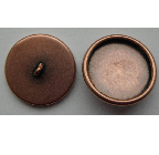 12mm Copper Plated Patera Round Brass Button Bezel