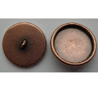 18mm Copper Plated Patera Round Brass Button Bezel