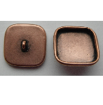 9mm Copper Plated Patera Square Brass Button Bezel