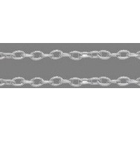 CHFSLF10 Silver Colour Lead Free Chain per Metre