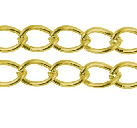 CHFGLNF02 Gold Colour Lead and Nickel Free Chain per Metre
