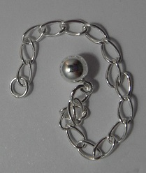 7.5 cm Sterling Silver Extender Chain with 5mm ball